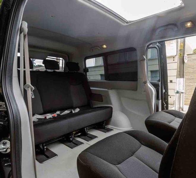 aluguel de minivan para 7 pessoas